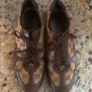 Gucci Gym Shoe with Leather Trim